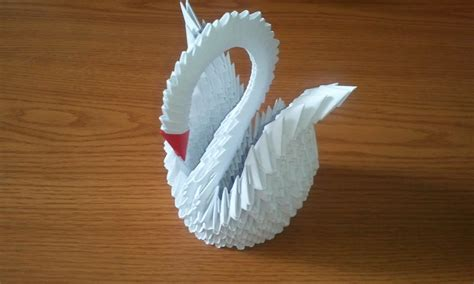 How To Make Origami 3d - how to make 3d origami swan updated