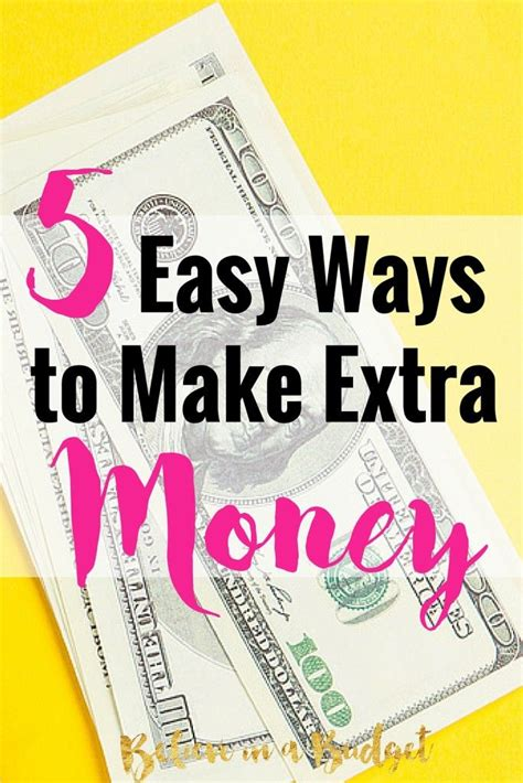 Easy Ways To Make Extra Money Online - 5 easy ways you can make money today extra money