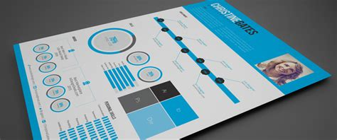 Stockindesign Free Modern Infographic Resume Infographic Indesign Template