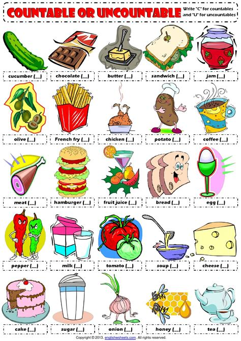 y are energy drinks bad for u countables and uncountables food drinks picture worksheet