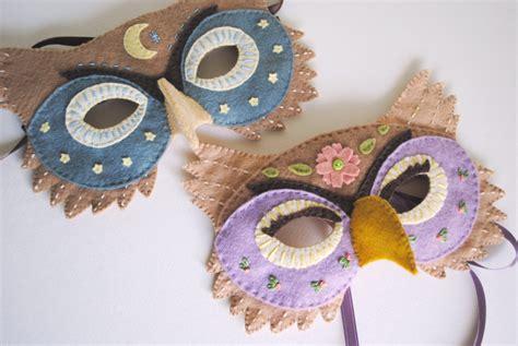 Felt Owl Mask Template felt owl mask pattern for or dress up