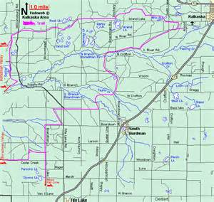 Michigan Snowmobile Trail Map by Michigan Snowmobiling Kalkaska Snowmobile Trail Map