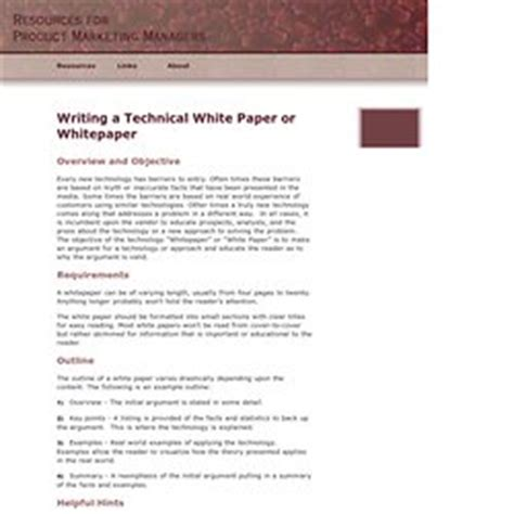 how to write a technical white paper white paper howto pearltrees