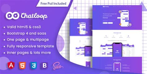 Chatloop Angular 7 App Landing Page Tfx Zak Zoroaster Theme Fre Angular Landing Page Template