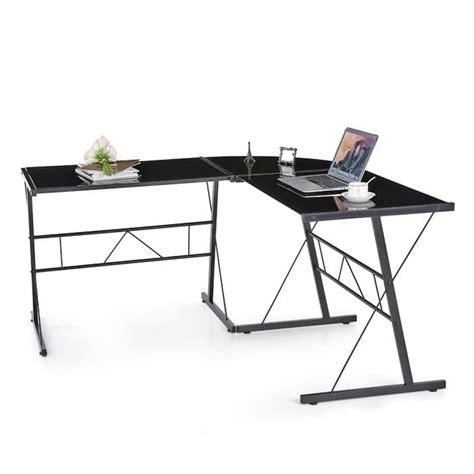 bureau ordinateur en l ikayaa table d ordinateur de bureau moderne en forme l de