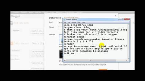 cara membuat yel yel hw cara membuat blog blogger blogspot dari pemula sai