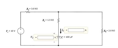 capacitor dc conditions for the following circuit the dc source has been chegg