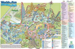 Map Of Worlds Of Fun by Worlds Of Fun Park Map Worlds Of Fun Amusement Parks