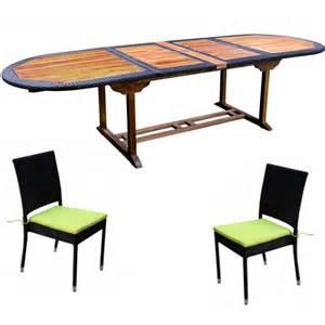 salon de jardin teck et resine tressee meuble tables de