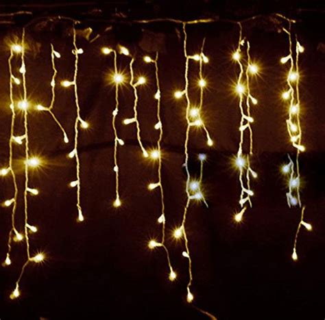 Starry String Lights Bedroom Lemonbest New 3 5m 96 Led Lights Curtain Icicle Starry String Lights For Bedroom