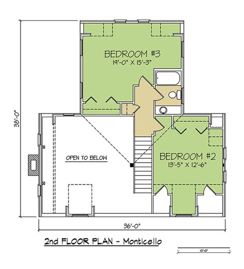 monticello second floor plan monticello