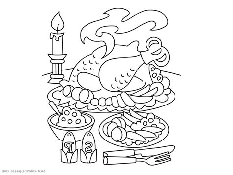 Thanksgiving Food Coloring Pages by Ham Coloring Pages Thanksgiving Food Ham Best Free