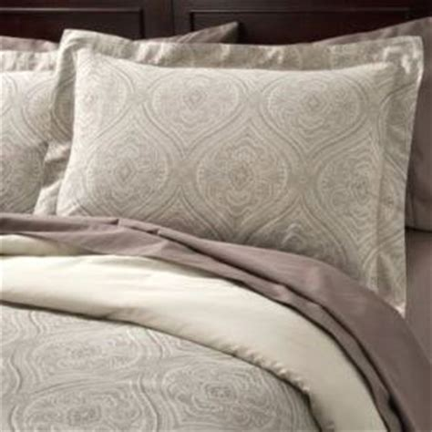 fieldcrest luxury cream ogee 3 pc queen duvet 2 shams