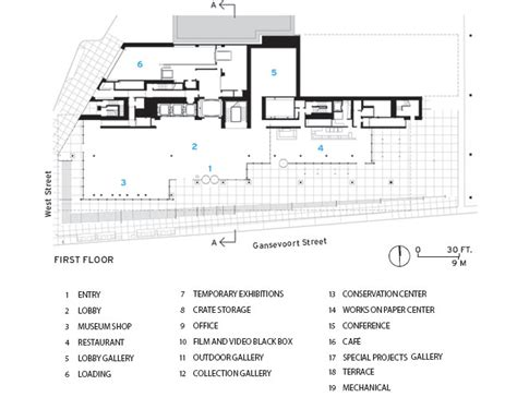whitney museum floor plan whitney museum of american art by renzo piano building