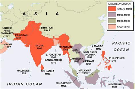 asia y africa mapa decolonization in asia
