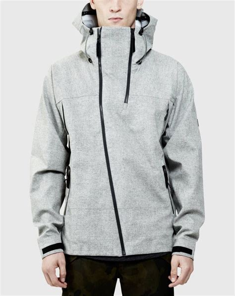 Jaket Pria Bc Be060 Windbreaker Outdoor Jacket Gray Black Micro isaora 3l technical shell thread and fabric grey twists and cool jackets