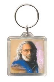 grateful dead jerry garcia portrait key chain woodstock trading company