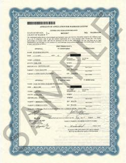 Washoe County Nevada Marriage Records Sle Certificates Nevada Document Retrieval Service