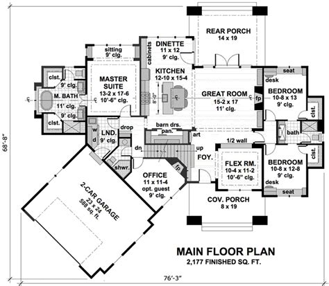 monster house plan bungalow house plan 3 bedrooms 3 bath 2177 sq ft plan