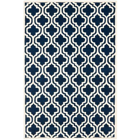 blue rugs 6 safavieh chatham blue ivory 6 ft x 9 ft area rug cht727c 6 the home depot