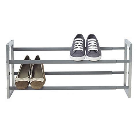 lakeland shoe storage extending steel shoe rack in shoe storage at lakeland