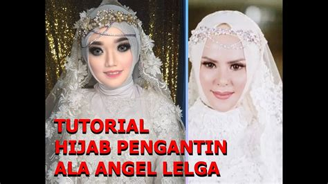 vlogjobwedding tutorial hijab pengantin ala angel