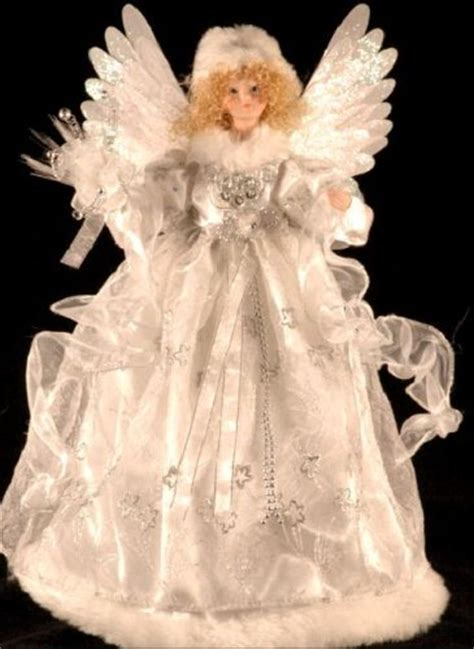 motorized angel tree topper wings head and arms move animated white fiber optic tree topper 18 quot wings arms move desertcart