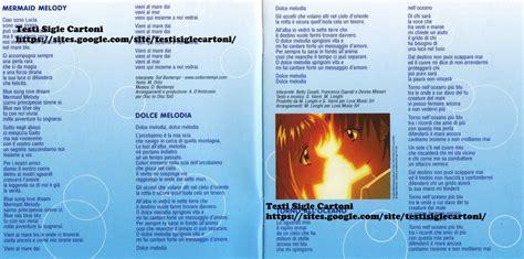 mermaid melody canzoni testi mermaid melody principesse sirene testi sigle cartoni