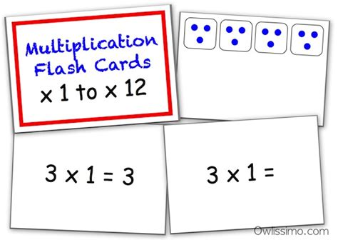 multiplication table flash cards printable multiplication facts flash cards printable