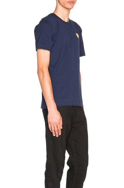 Kaos T Shirt Nike Bleed Black Gold play comme des gar 231 ons gold emblem in blue for lyst