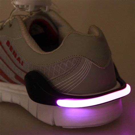 running shoe led lights useful outdoor tool led luminous shoe clip light