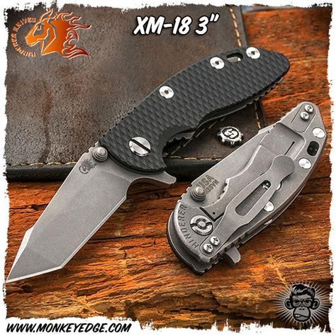 xm 18 3 inch monkey edge hinderer knives xm 18 3 inch harpoon tanto
