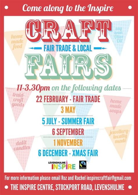 fair flyer template craft fairs and crafts on