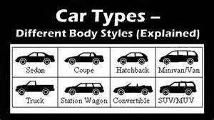 Types Of Cars Most Popular Car Types Based On Different Styles