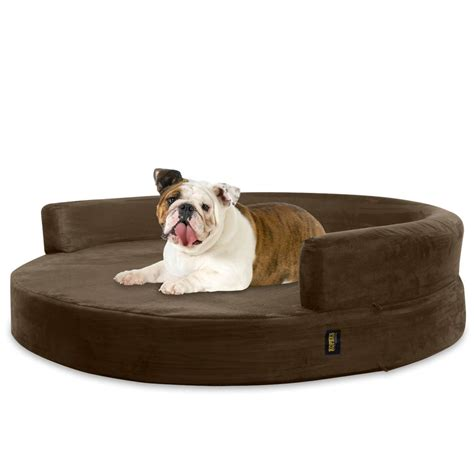 orthopedic dog beds large dog bed round deluxe orthopedic memory foam sofa lounge