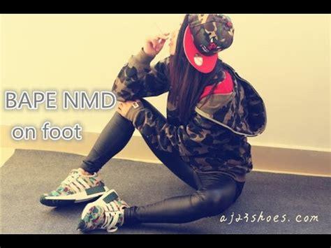 Adidas Nmd Bape Premium Quality best quality ua replica adidas nmd 215 bape review on foot detailed look