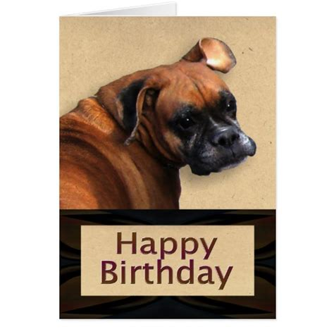 boxer cards boxer birthday card zazzle