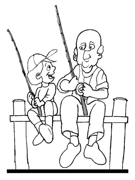 With Grandpa Granddaughter Coloring Coloring Pages Grandfather Coloring Pages