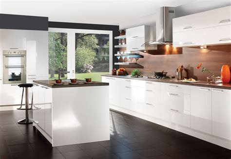 Kitchen Furniture White White Gloss Kitchen Units Decosee