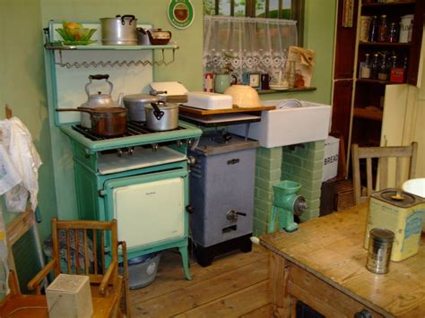 1930 s kitchen in the boat with a typical kitchen of the 1930 s