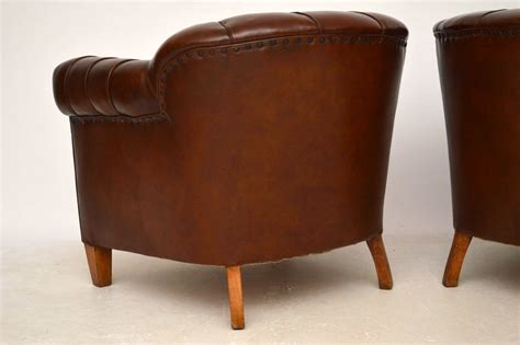 leather club armchairs pair of antique swedish leather club armchairs marylebone antiques sellers of