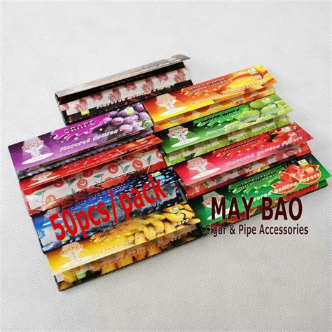 cigarette colored rolling papers 10 booklets of 1 1 4 cigarette fruity flavored rolling