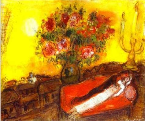 famous wall paintings high quality marc chagall the sky inflames100 handpainted