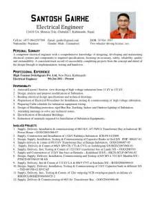 Curriculum Vitae Components by Electrical Engineer Cv Sample Electrical Substation