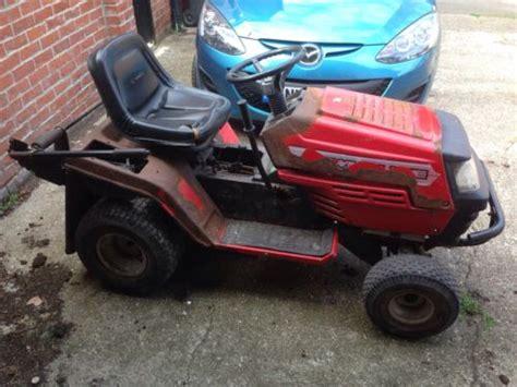lawn mower red lawnflite mtd  model  ride  lawnmowers shop