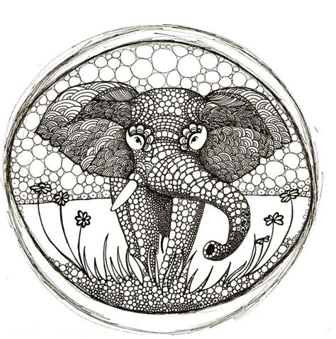 ellie elephant coloring page 1000 images about mandaly on pinterest mandalas