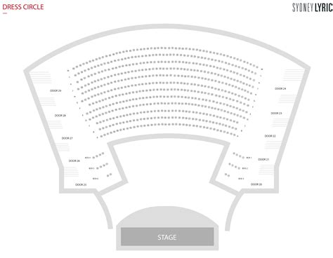 lyric theatre floor plan seating plan sydney lyric theatre