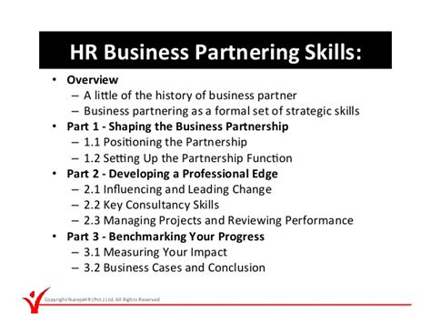 hr business partnering skills
