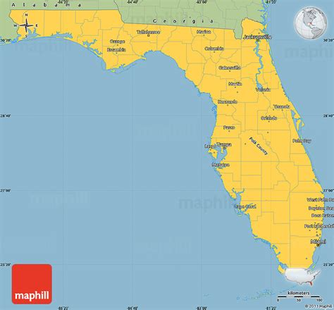 Florida Simple Search Free Savanna Style Simple Map Of Florida