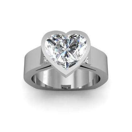 tension heart shape engagement rings